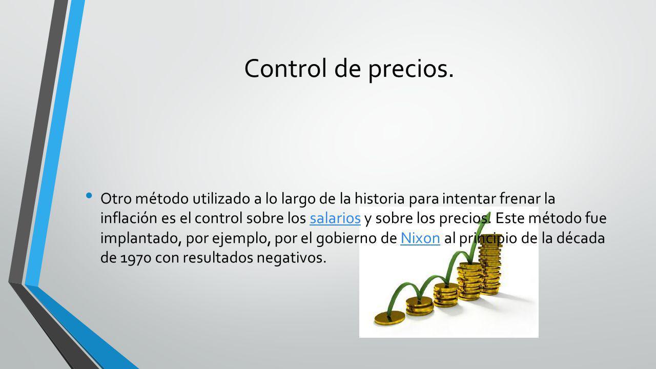 Control de precios.