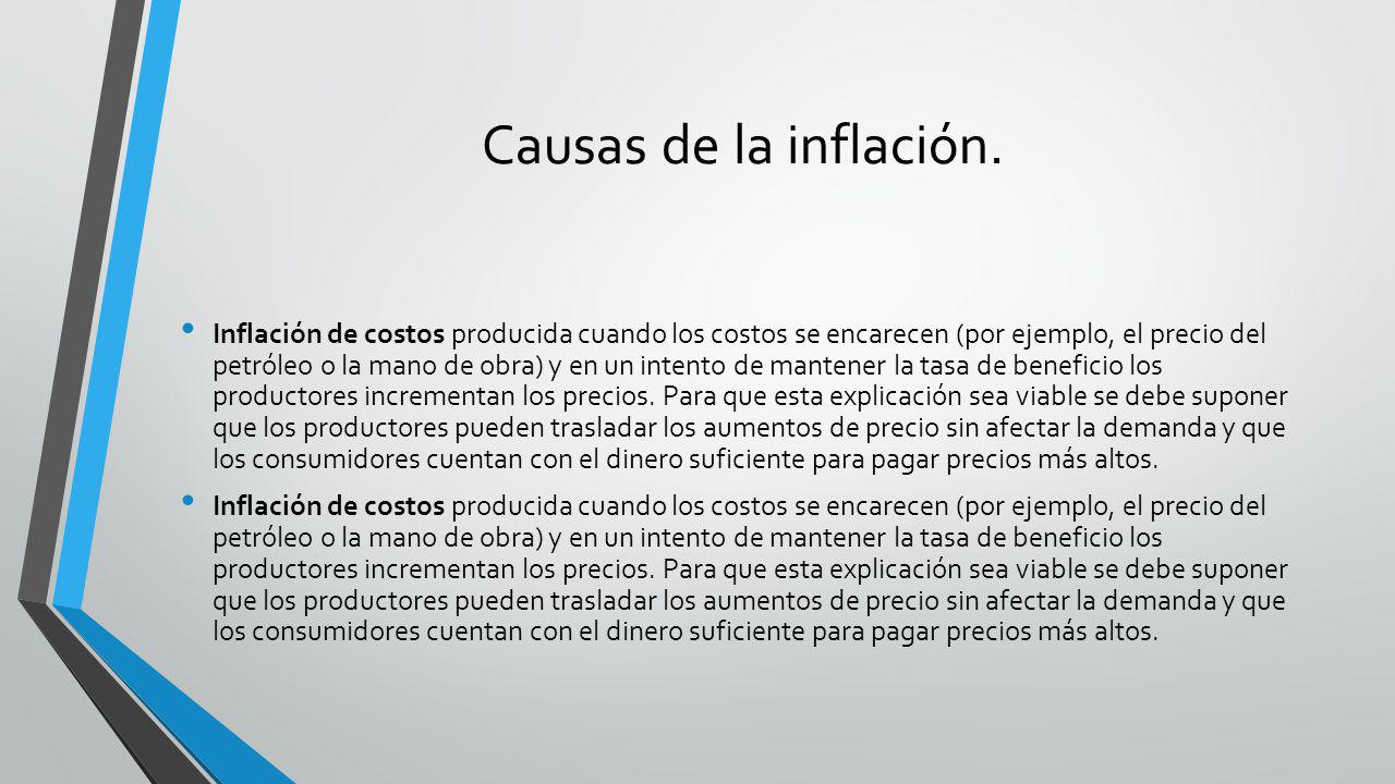 Causas de la inflación.