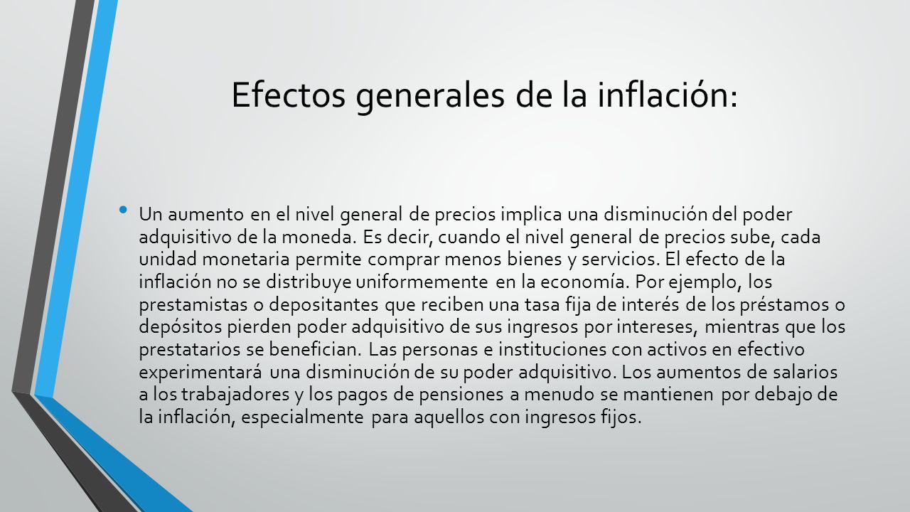 Efectos generales de la inflación: