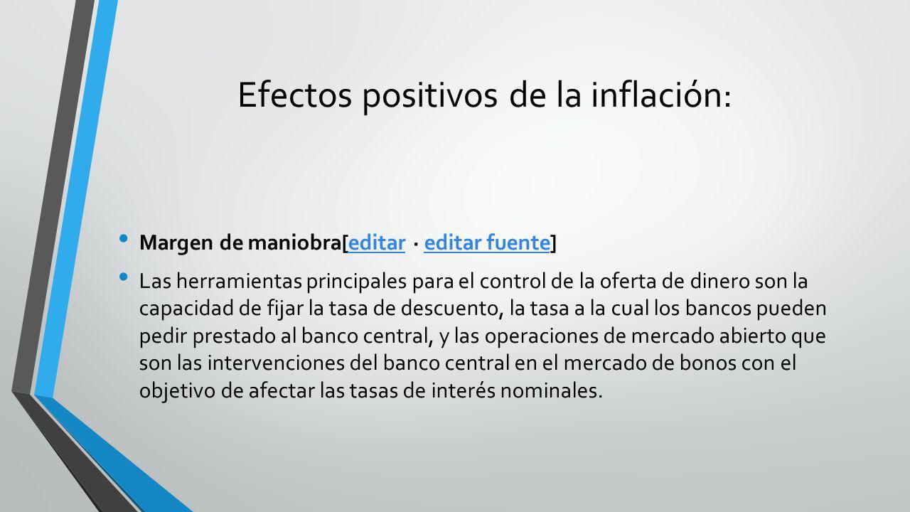 Efectos positivos de la inflación: