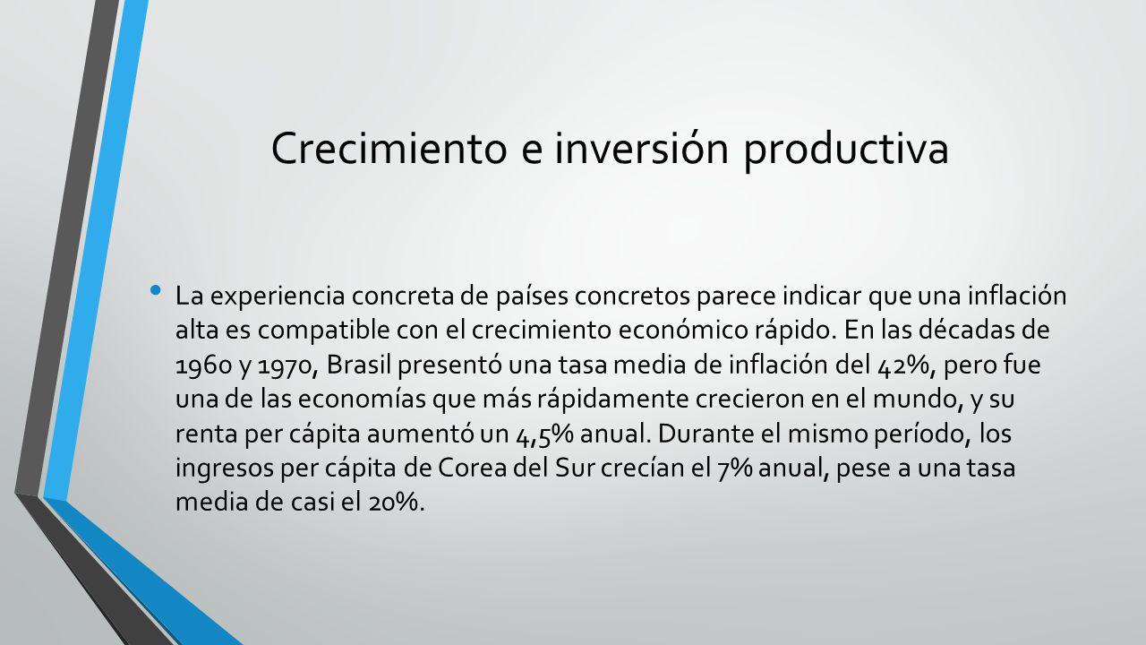 Crecimiento e inversión productiva