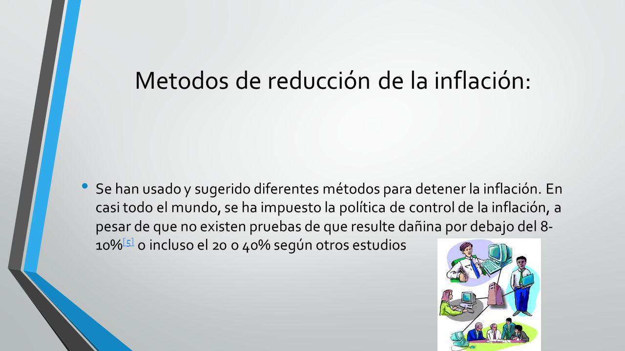 Metodos de reducción de la inflación: