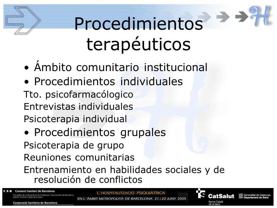 Procedimientos terapéuticos