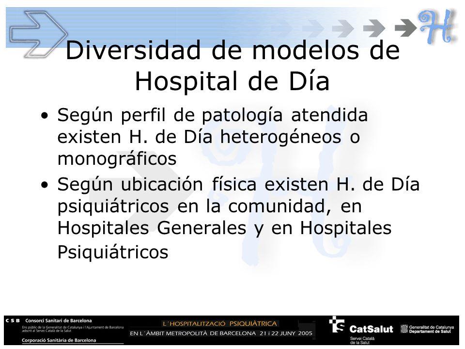 Diversidad de modelos de Hospital de Día