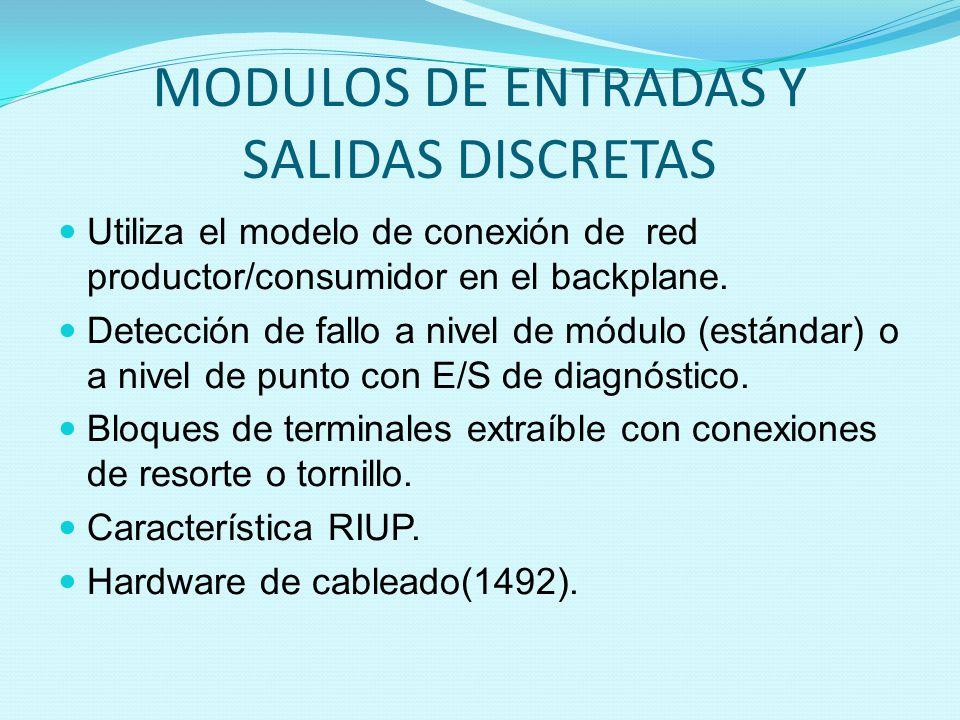 MODULOS DE ENTRADAS Y SALIDAS DISCRETAS