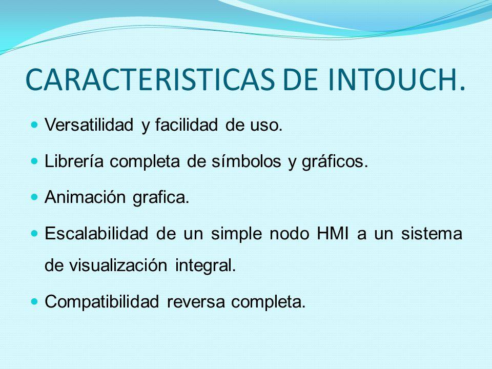 CARACTERISTICAS DE INTOUCH.