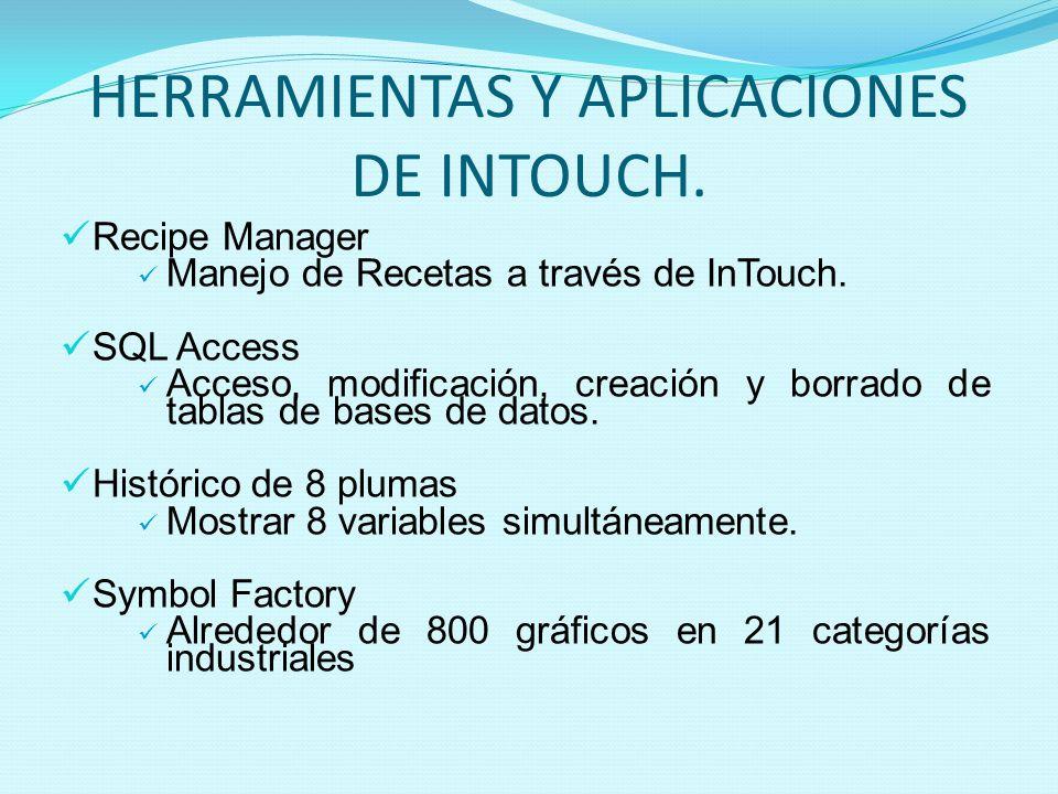 HERRAMIENTAS Y APLICACIONES DE INTOUCH.