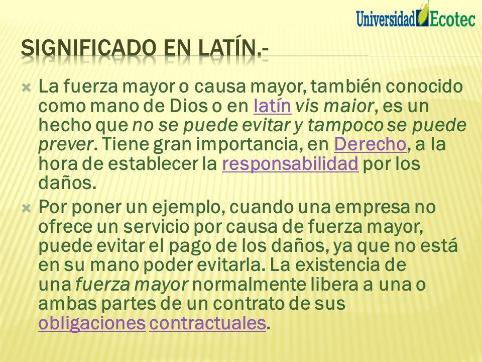 Significado en latín.-