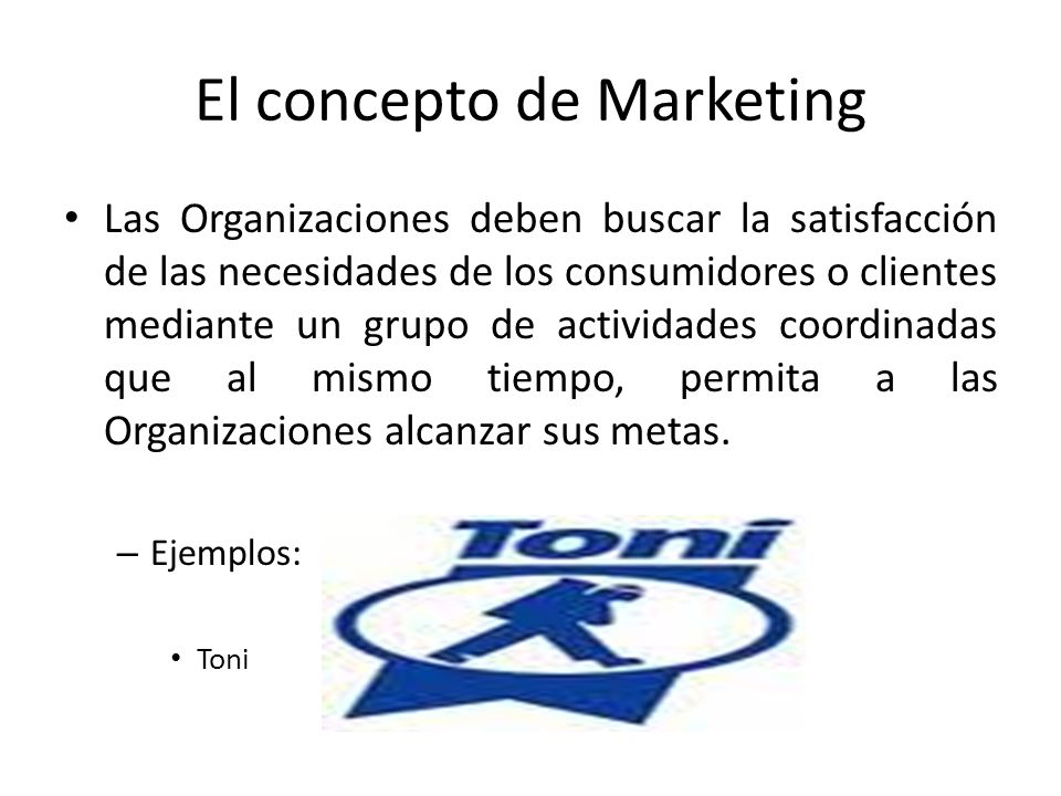 El concepto de Marketing