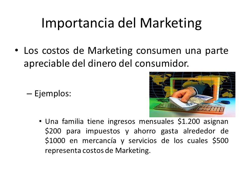 Importancia del Marketing