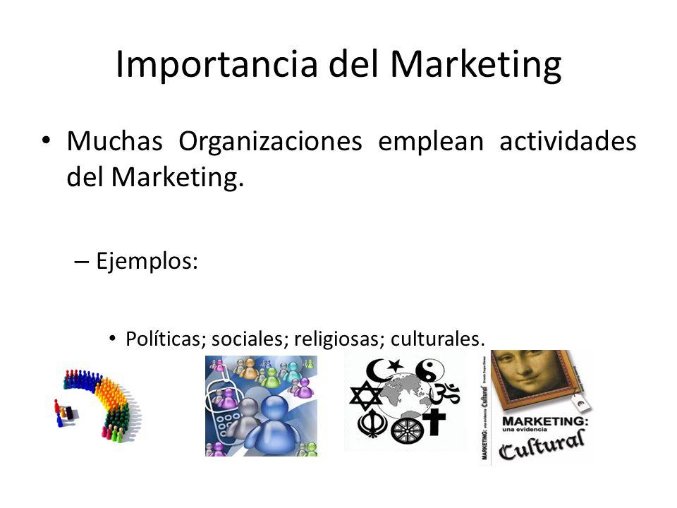 Importancia del Marketing