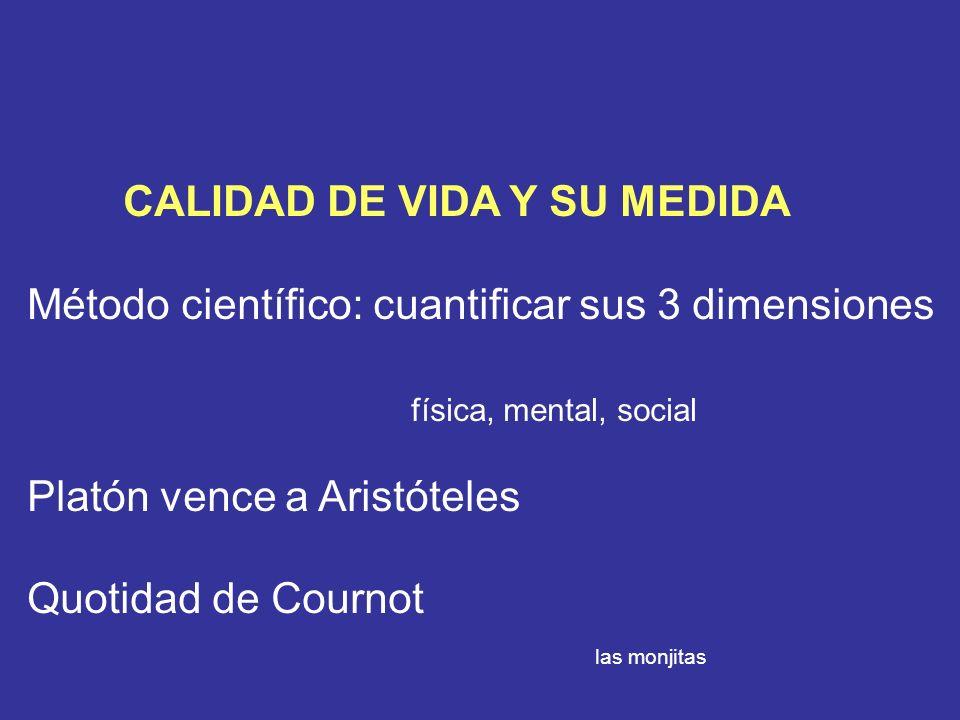 CALIDAD DE VIDA Y SU MEDIDA