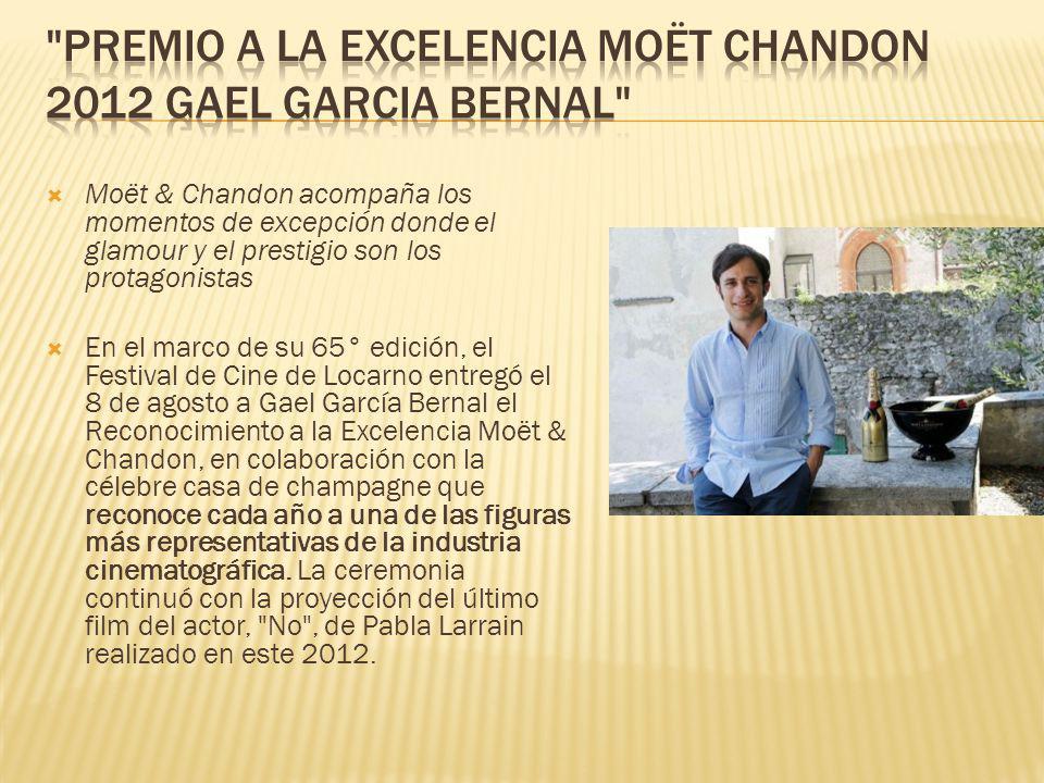 Premio a la excelencia Moët Chandon 2012 Gael Garcia Bernal