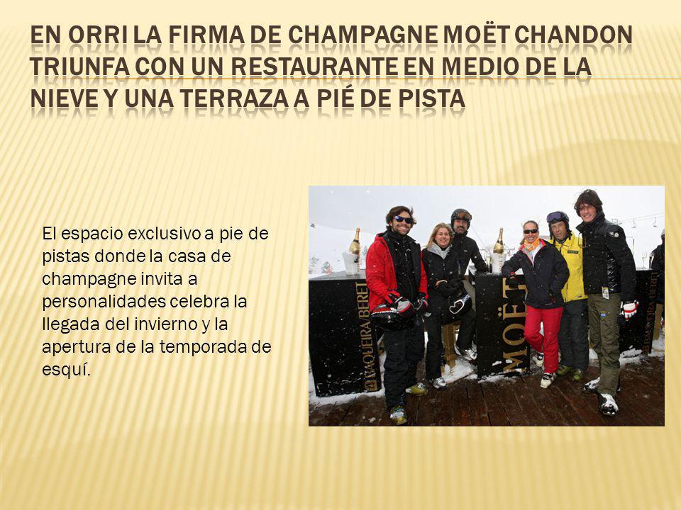 En Orri la firma de champagne Moët Chandon triunfa con un restaurante en medio de la nieve y una terraza a pié de pista