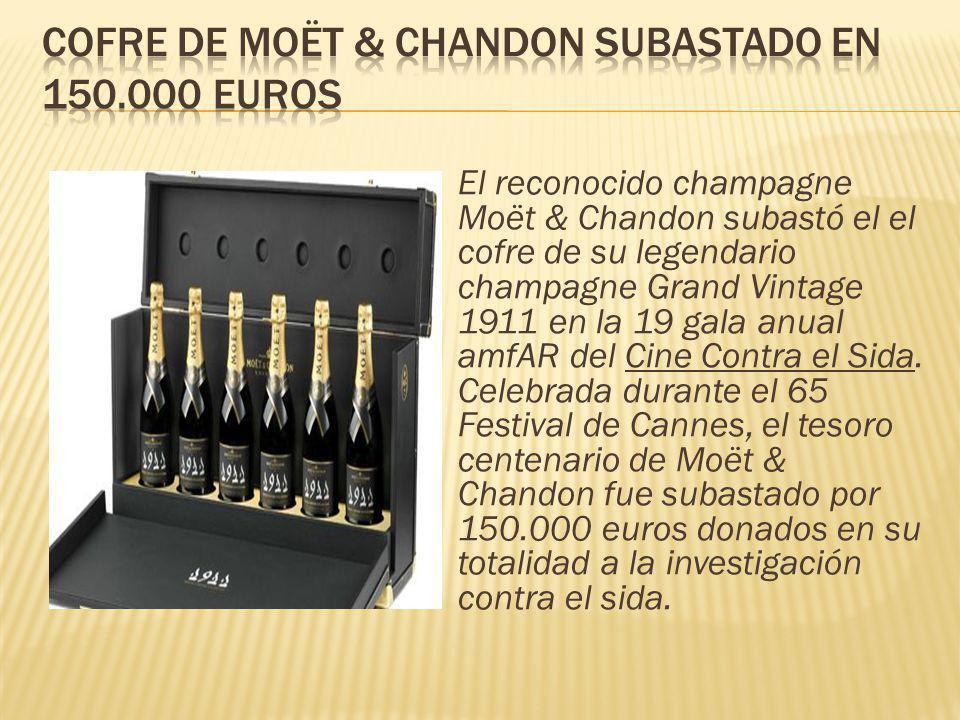 Cofre de Moët & Chandon subastado en 150.000 euros