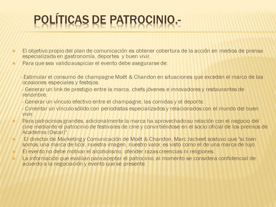 Políticas de Patrocinio.-