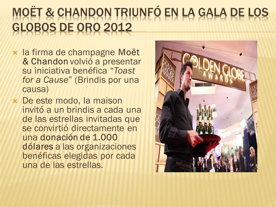 Moët & Chandon triunfó en la Gala de los Globos de Oro 2012