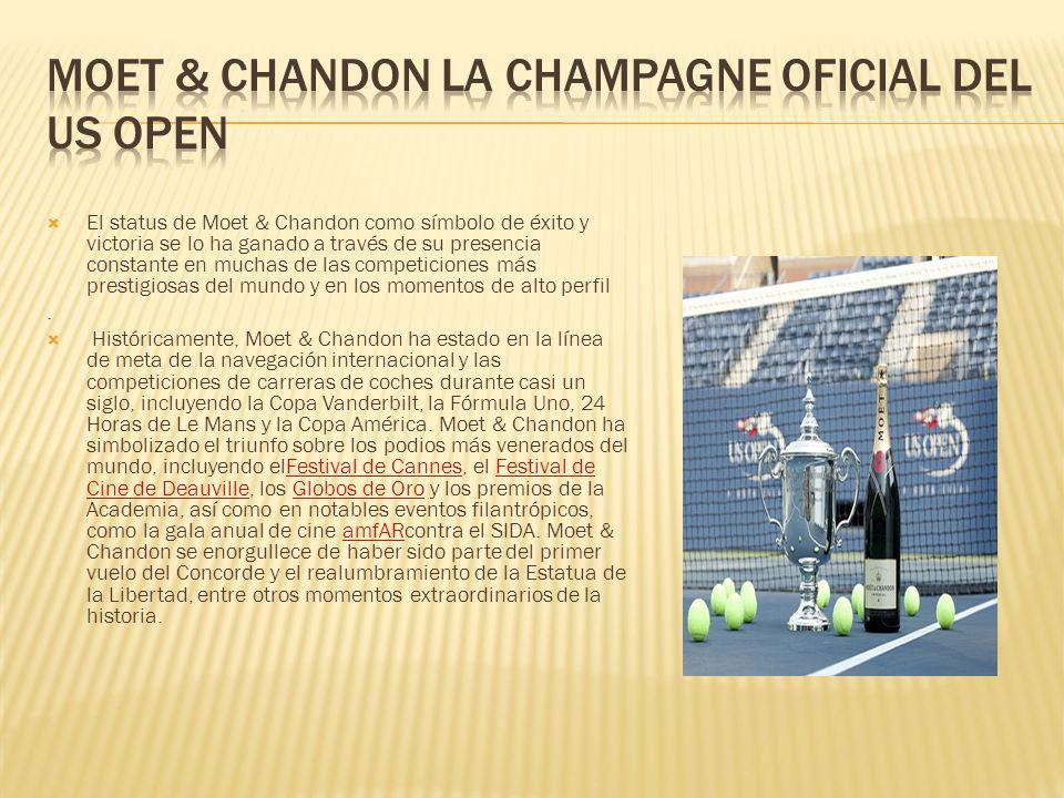 Moet & Chandon la Champagne oficial del US Open
