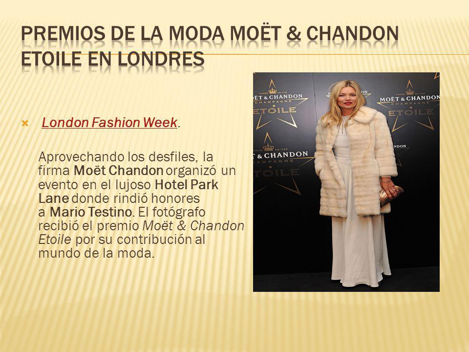 Premios de la moda Moët & Chandon Etoile en Londres