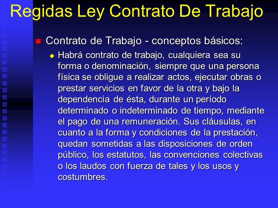 Regidas Ley Contrato De Trabajo