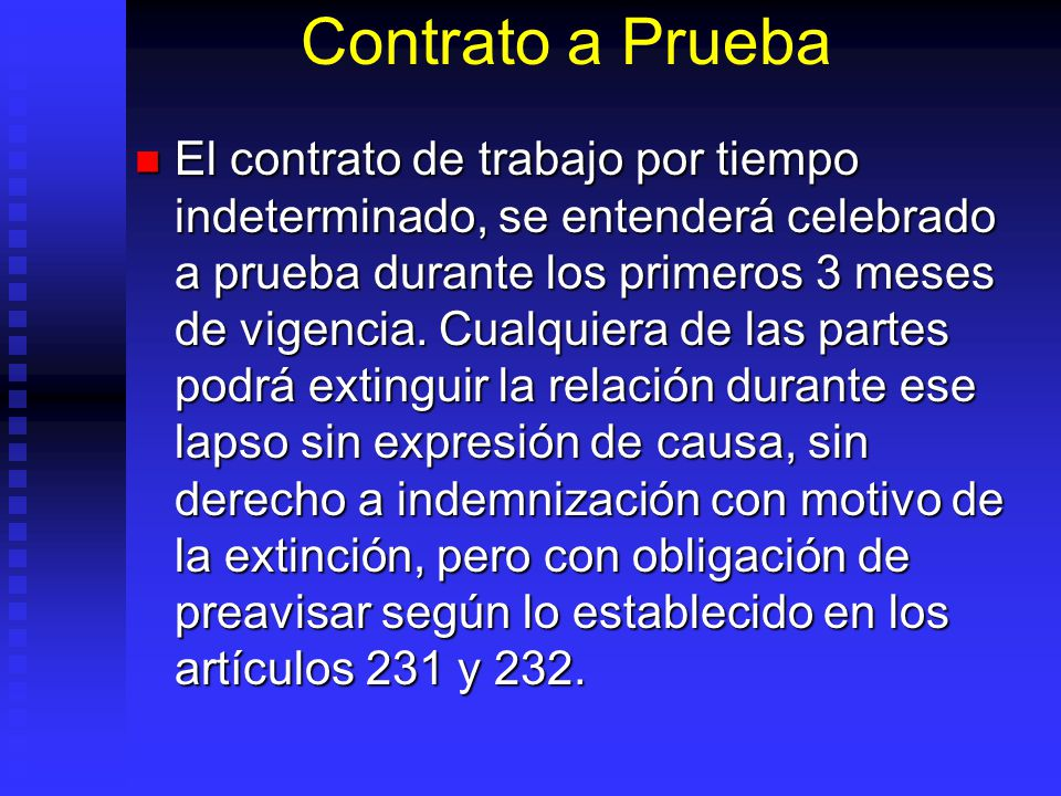 Contrato a Prueba