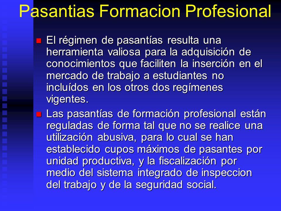 Pasantias Formacion Profesional