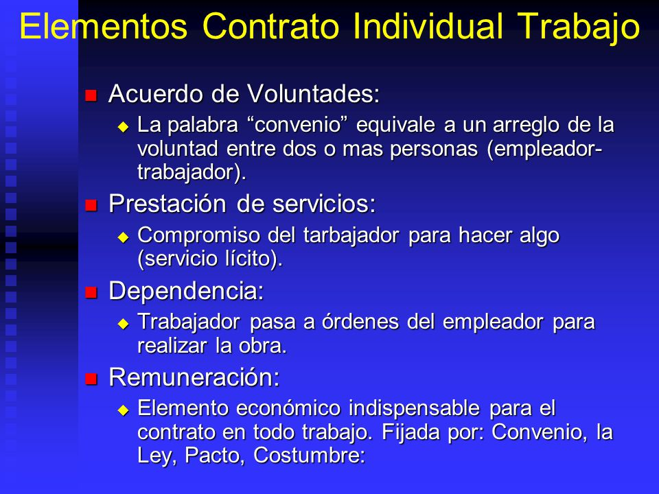 Elementos Contrato Individual Trabajo
