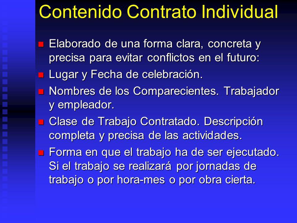 Contenido Contrato Individual
