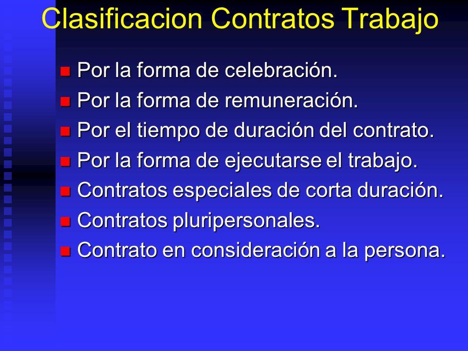 Clasificacion Contratos Trabajo