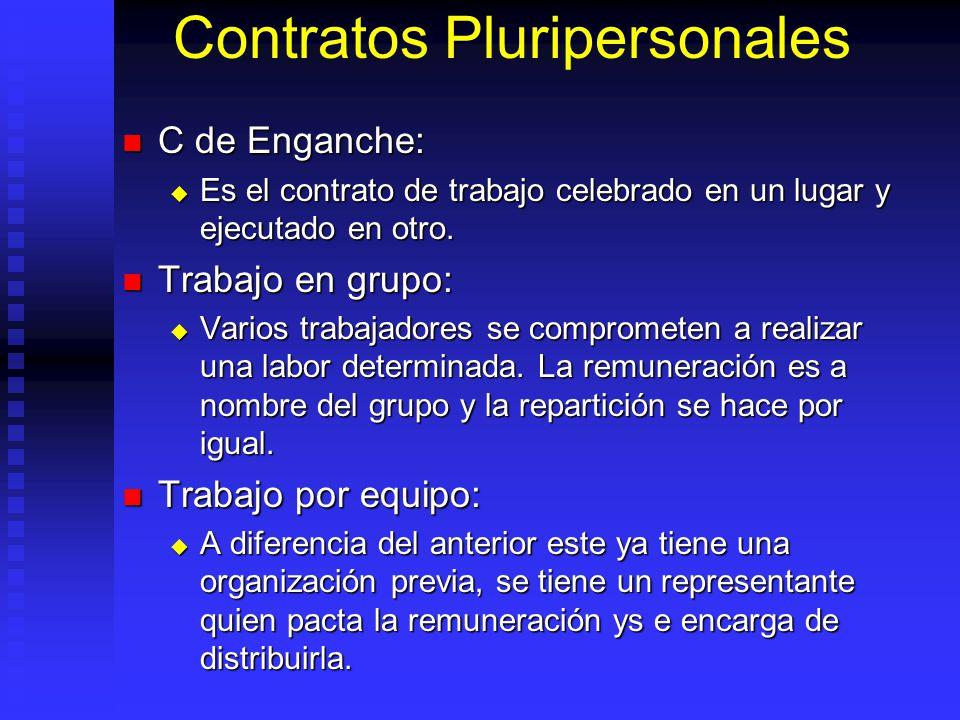 Contratos Pluripersonales