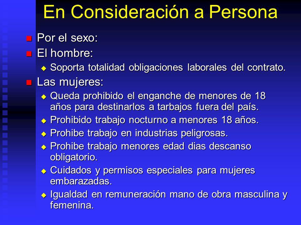 En Consideración a Persona