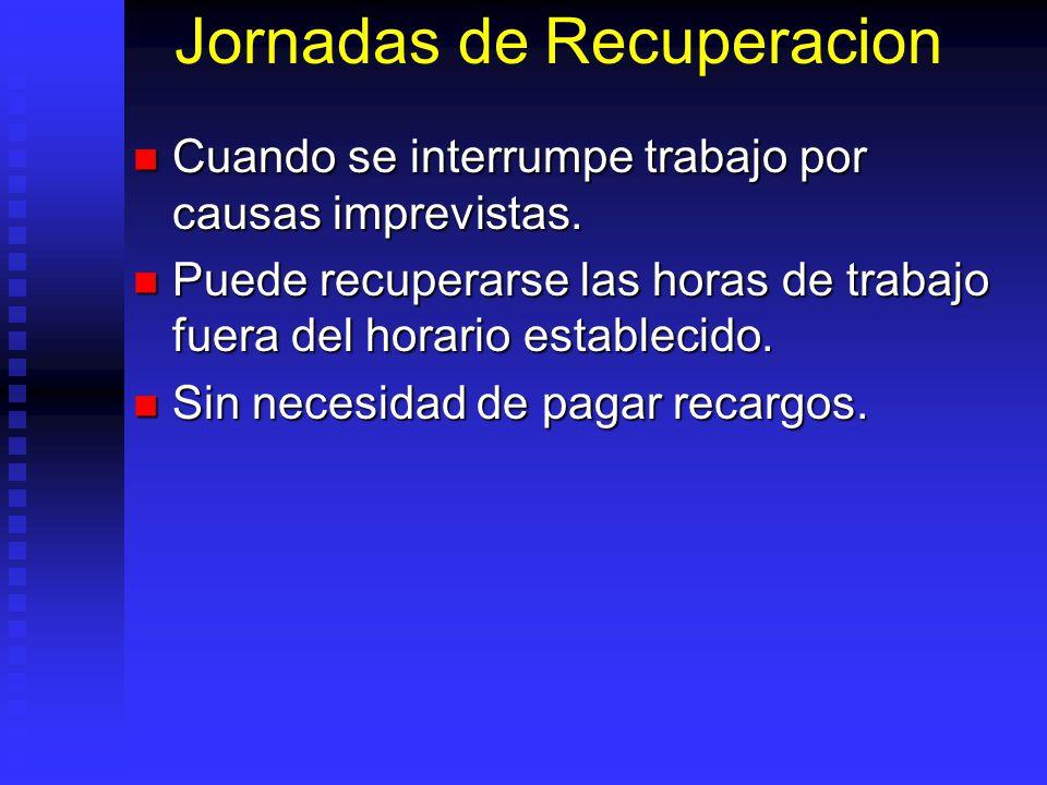 Jornadas de Recuperacion