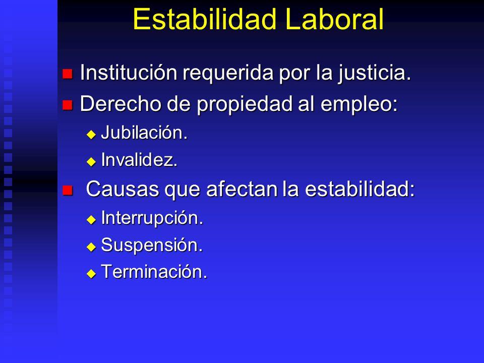 Estabilidad Laboral Institución requerida por la justicia.