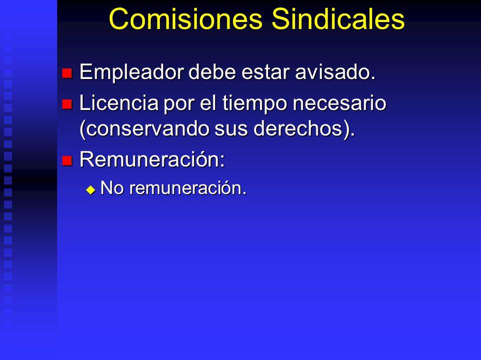 Comisiones Sindicales