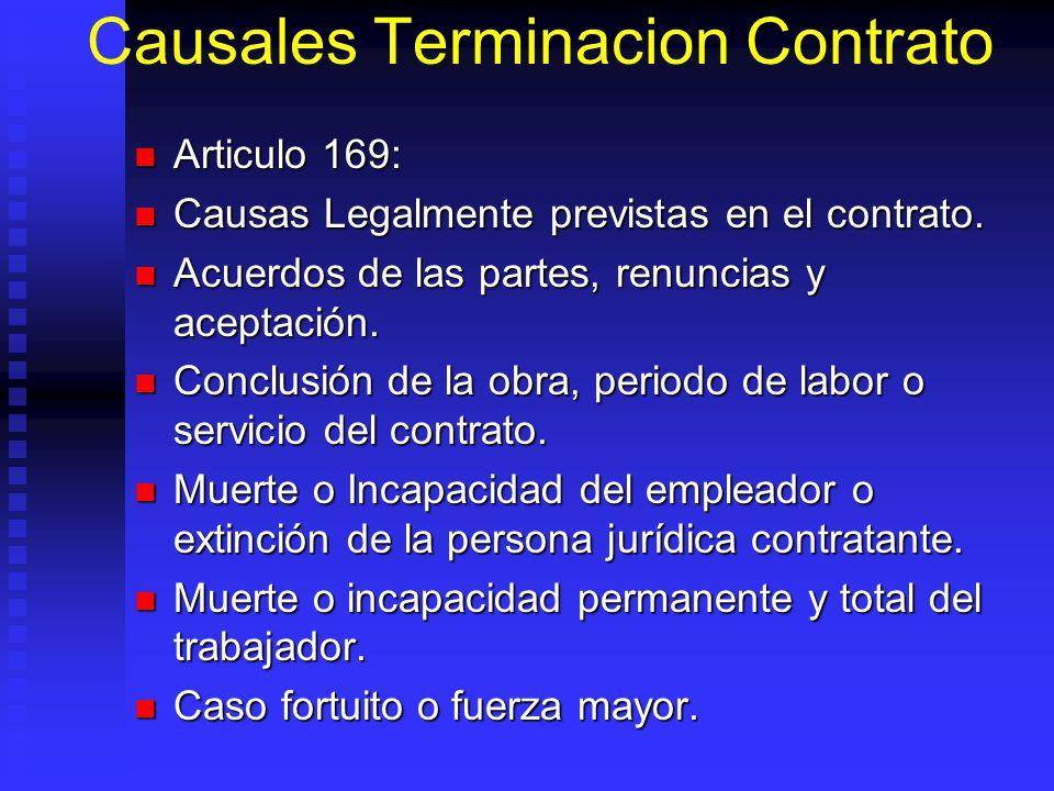 Causales Terminacion Contrato