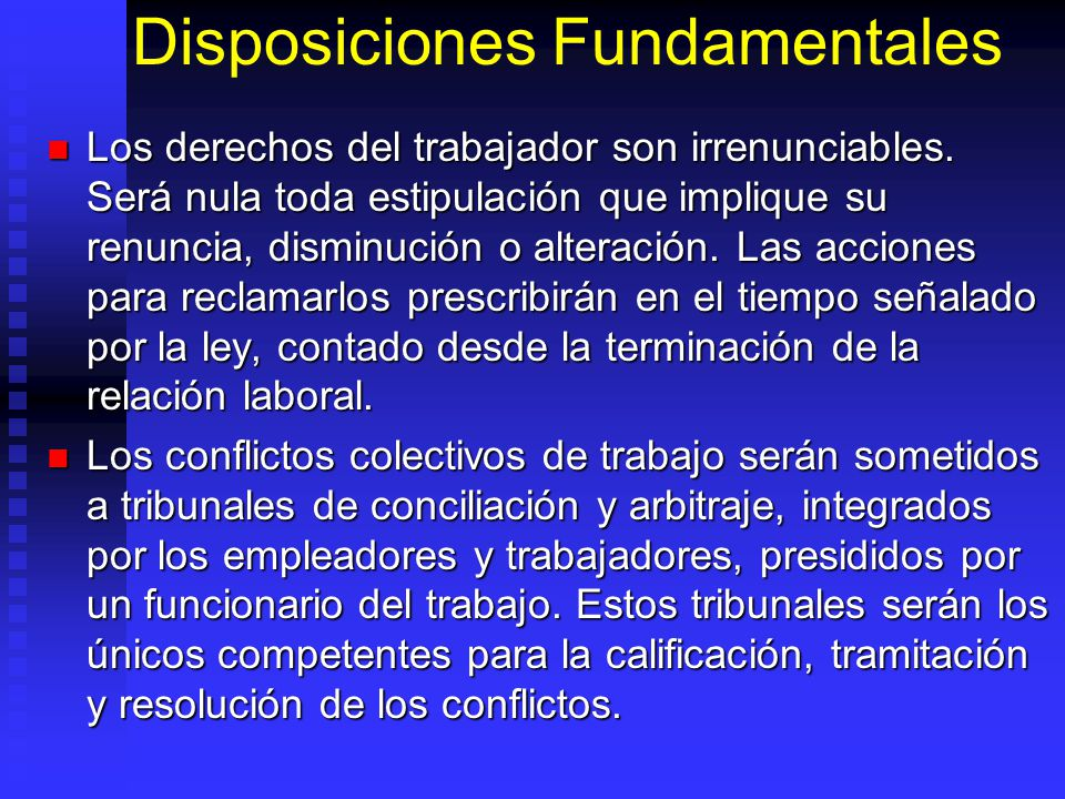 Disposiciones Fundamentales