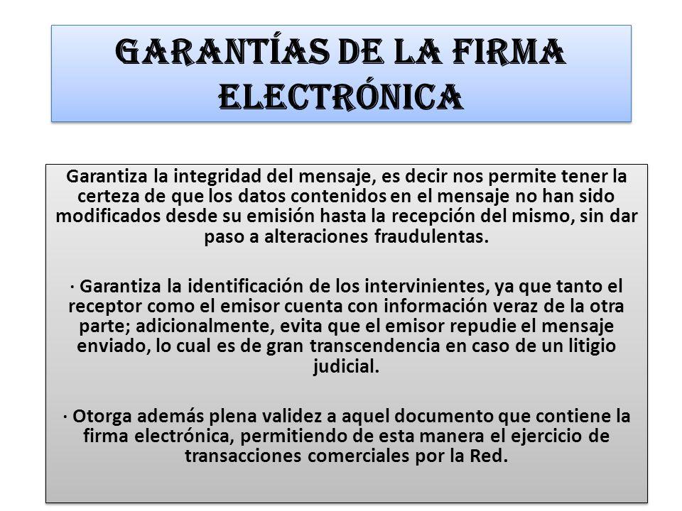 Garantías de la Firma Electrónica