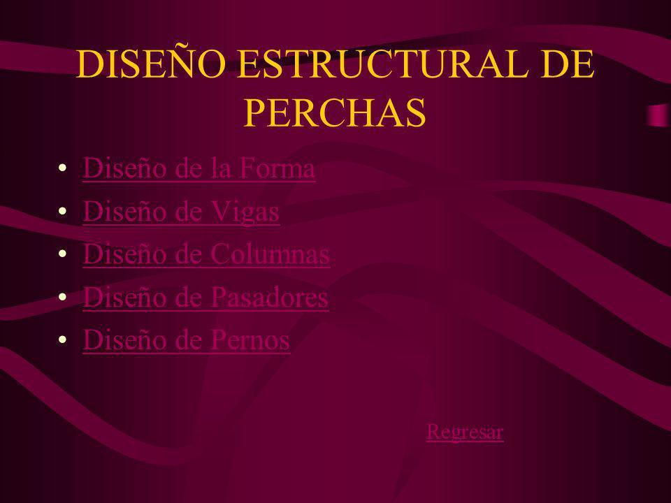 DISEÑO ESTRUCTURAL DE PERCHAS