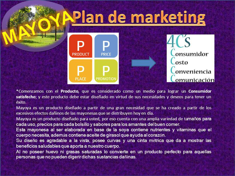Plan de marketing MAYOYA