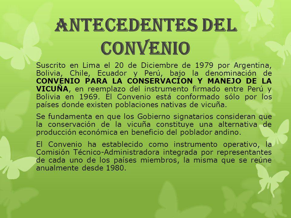 ANTECEDENTES DEL CONVENIO