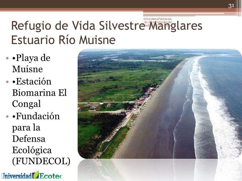 Refugio de Vida Silvestre Manglares Estuario Río Muisne