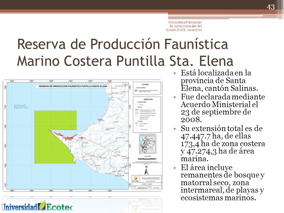 Reserva de Producción Faunística Marino Costera Puntilla Sta. Elena