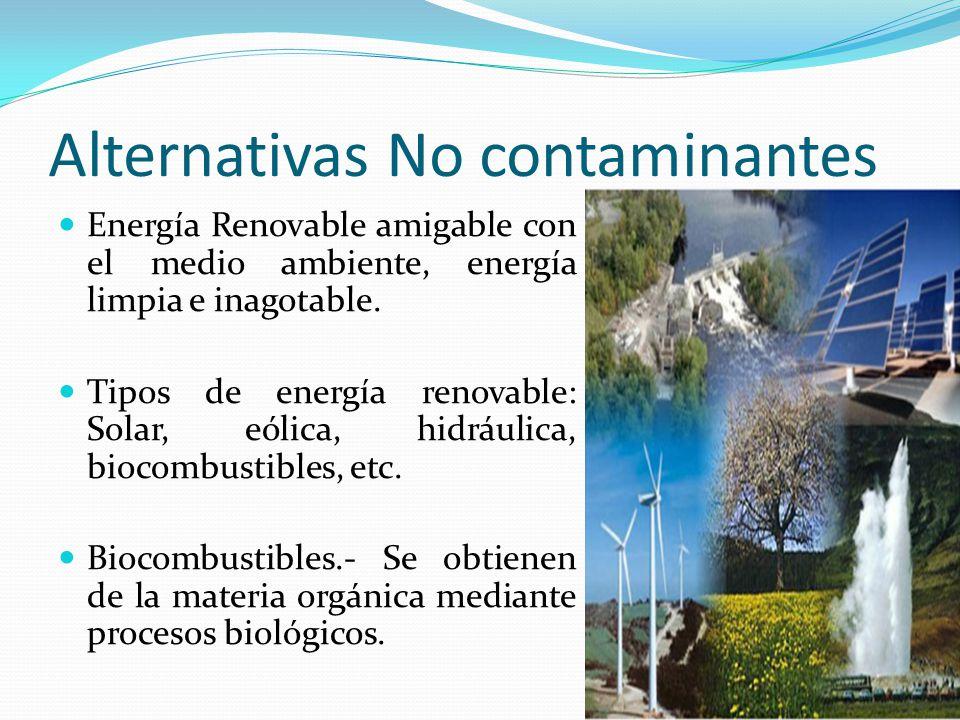 Alternativas No contaminantes