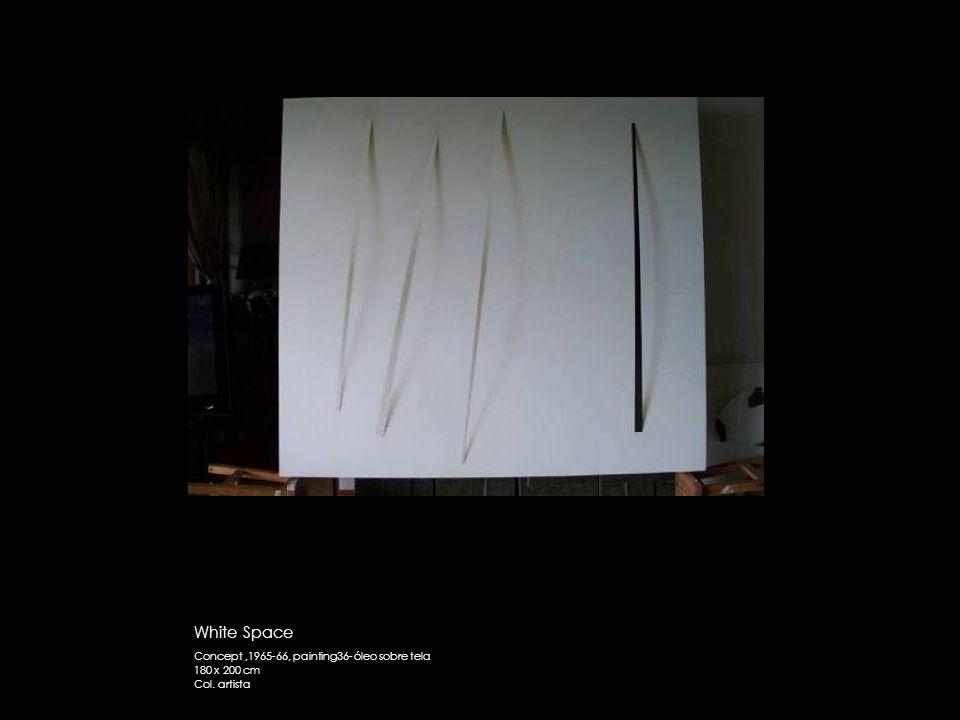White Space Concept ,1965-66, painting36- óleo sobre tela 180 x 200 cm