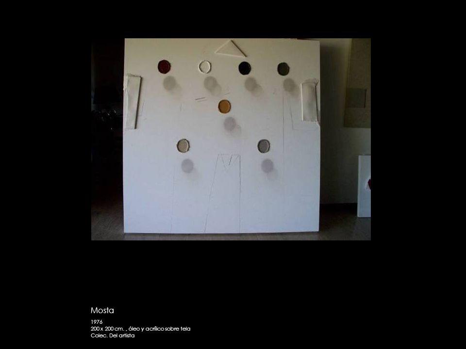 Mosta 1976 200 x 200 cm. , óleo y acrílico sobre tela