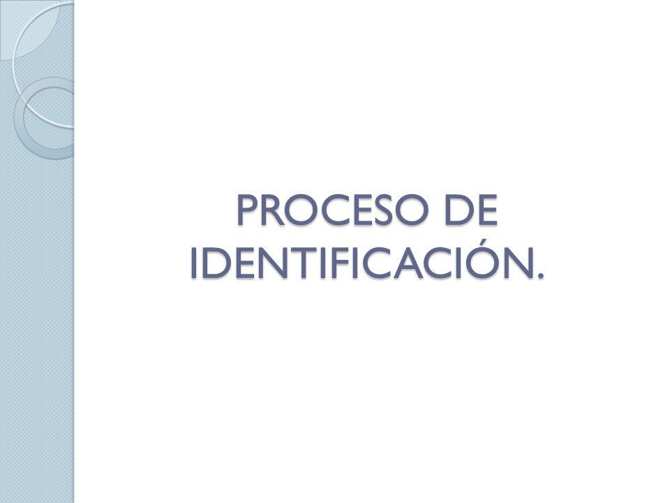 PROCESO DE IDENTIFICACIÓN.