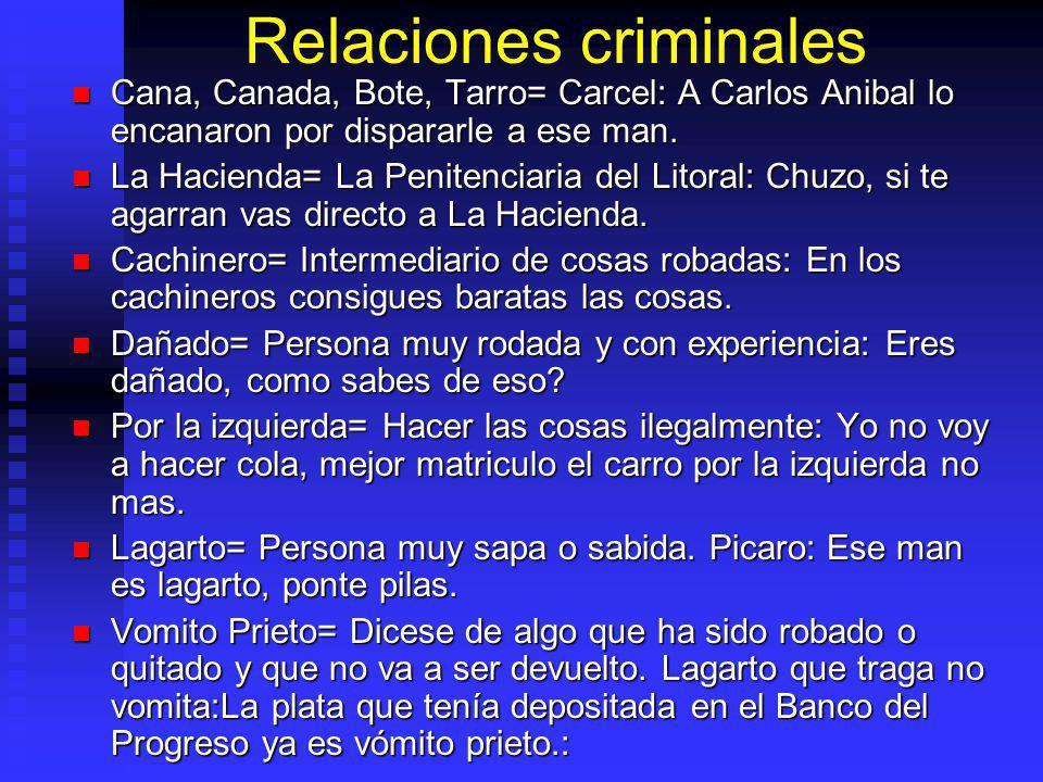 Relaciones criminales