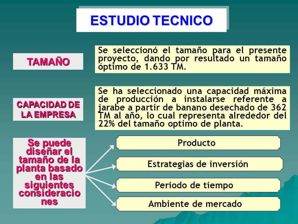 CAPACIDAD DE LA EMPRESA Estrategias de inversión