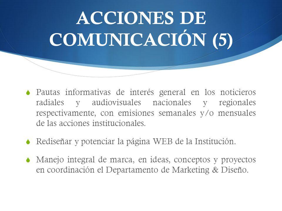 ACCIONES DE COMUNICACIÓN (5)