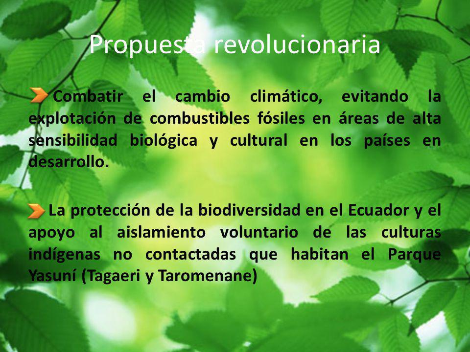 Propuesta revolucionaria